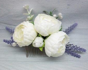 Gift for bridal Boho wedding Boho flower Bridal hair flower Boho hair Bridesmaid hair Boho bridal Hair comb Alternative wedding Wedding hair