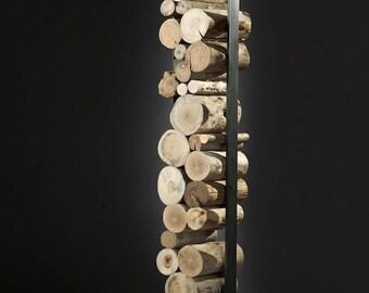 Driftwood sculpture trunk log