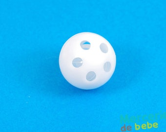 Foley ball for baby toys: rattle - 2.4 cm diameter - white