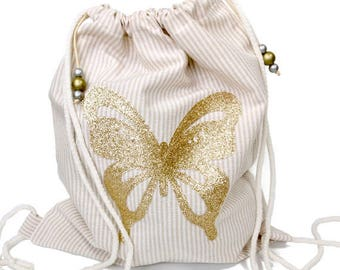 Girls drawstring bag   Etsy