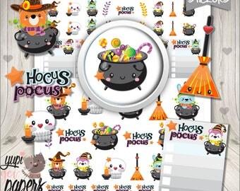 50%OFF- Halloween Stickers, Printable Planner Stickers, Kawaii Stickers, Planning Stickers, Planner Accessories, Planner Stickers, Halloween