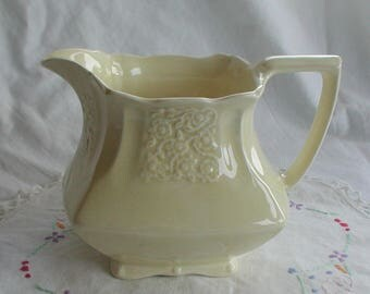 Vintage Myott Lemon Yellow Jug Creamer