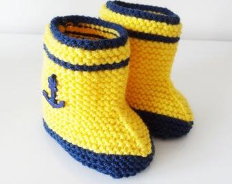 baby yellow rain boots