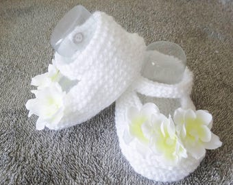 baby booties for baptism or marriage - 6-9 months baby