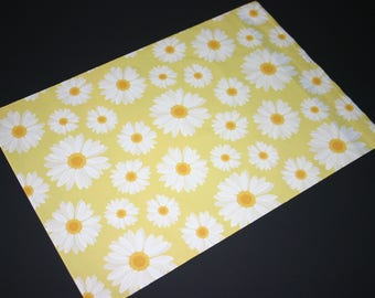 50 Designer Poly Mailers 10x13 Yellow White Daisies Envelopes Shipping Bags Spring Mother's Day