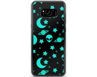 Alien Phone Case, Outer Space Phone Case, Night Sky Design for Samsung Galaxy and iPhone