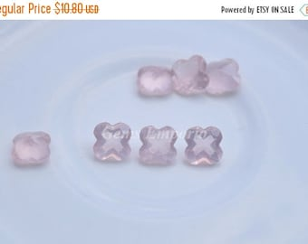 ON SALE Rose Quartz 8 MM Faceted Flower / Pink Quartz / Light Pink Gemstone / Good Quality / Price per piece