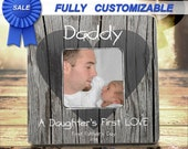 Father's Day Gift First Father's Day Frame Daughters First Love Valentines Gift 1st Fathers Day Gift From Daughter Daddy Daughter Gift Frame