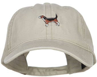 Beagle Embroidered Washed Cap