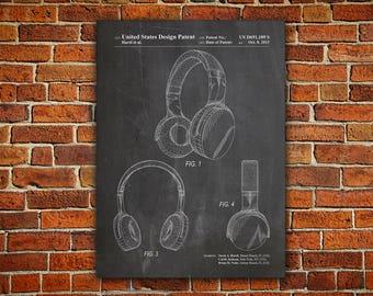 Headphones Canvas painting, Headphones, Headphones Art, Headphones Print, Headphones Poster, DJ Printable, Teen Room Printable