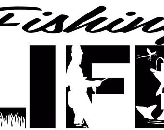 Fishing Life SVG Cutting File for Cricut