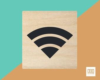 Wifi- 3cm Rubber Stamp (DODRS0059)