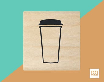 Coffee To Go - 3cm Rubber Stamp (DODRS0085)