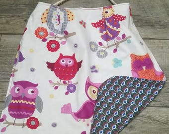 Elastic towel for children / Peacock feather and OWL