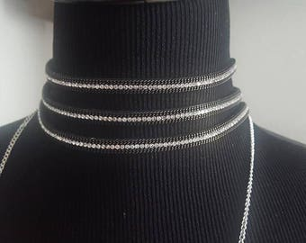 Black 3 Layer Choker