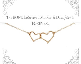 Mother and Daughter Necklace | Mom from Daughter | Mother Daughter sets | Infinity Heart Necklace | Personalized Heart necklace
