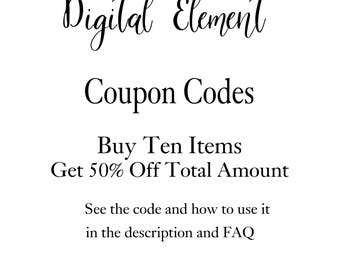 Coupon Codes: 50% OFF When You Purchase 10 Items. Does not apply to Commercial License.