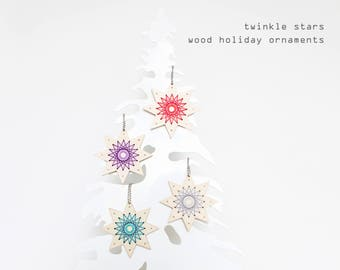 Twinkle Stars-  Easy DIY holiday ornament kit - Beginners kit - Easy Christmas ornament kits