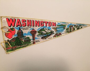 Vintage Washington State Pennant