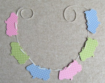 Guinea Pig Bunting - Polka Dot Design