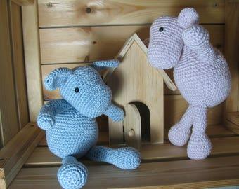 little mouse, Bunny, handmade in 100 cotton crochet
