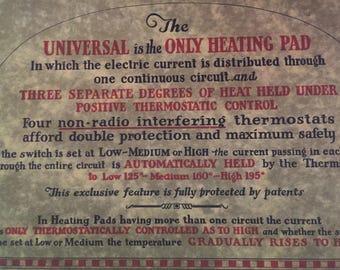 vintage 1910s Universal Landers, Frary and Clark Heating pad