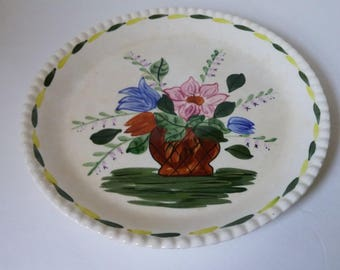 Blue Ridge Southern Pottery Flower Bowl Pattern (Variant) Round Platter