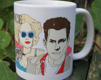 True Romance mug, Love Romance, Cadillac, Heart, Couple, Sunglasses, Film, Movie