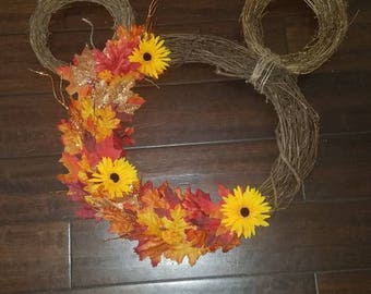 Fall Mickey Mouse Wreath