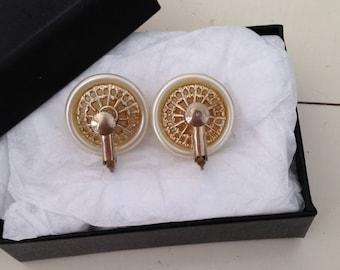 Bride Earrings - Bridal Earrings - Weddings Jewelry - White Earrings - Screw Back Earrings - Clip on Earrings - Vintage - Antique - 1950s