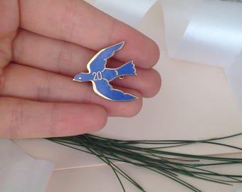 Blue Bird - Blue Bird Pin - Blue Bird Brooch - Something Blue - Birds - Bird - Pins and Brooches - Brooch Pin - Vintage - Vintage Brooch