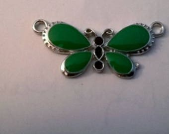 Butterfly body green wings connector black