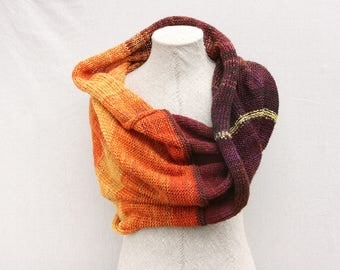 Chunky knit Infinity wrap | knit shawl | Latvia knitwear | Inese Liepina | soft warm scarf | knit mohair scarf | Fall Flower Aster