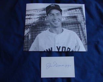 Joe DiMaggio New York Yankees Autograph