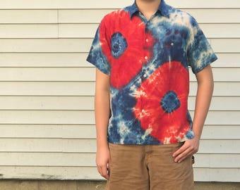 Blazin Donuts Phish Fishman Men's Button Up Collar Shortsleeve Shirt L