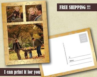 50+ Photo Christmas Postcard Greetings Photo Postcard Photo Holiday Card Printable Christmas Card Custom Christmas card Holiday Photo Card