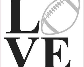 Football love SVG, Love football svg, png, jpg cut file