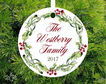 Personalized Family Christmas Ornament Annual Family Gift Christmas Ornament