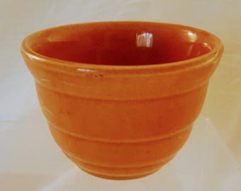 American Vintage Bauer Pottery Ringware #36 Small Nesting Beehive Mixing Brown Bowl
