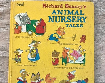 1980's Richard Scarry's Animal Nursery Tales Children's Book- FREE SHIPPING