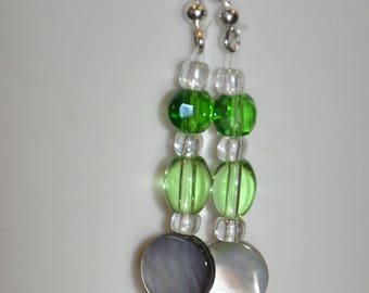 Green and Shiny Earrings