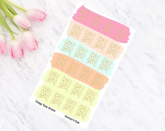 Summer's Kiss Foiled Page Flags Planner Stickers with Gold, Rose Gold, Silver for All Planner Types Erin Condren, Kate Spade, FiloFax