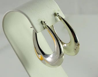 Larger Sterling Hoops Pierced Earrings