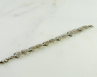"""Sterling Floral Bracelet  7"""""""
