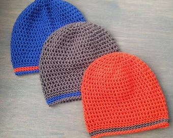 Basic Beanie - Crocheted Hat - Adult/Child/Toddler sizes