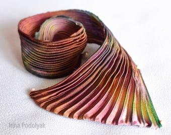 Silk Shibori Ribbon Handmade, 30cm