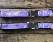 Lavender Feather, Lavender Feather Dog Collars, Purple Dog Collars, Sew Fetch Dog Collars, Girl Dog Collars, Dog Collars