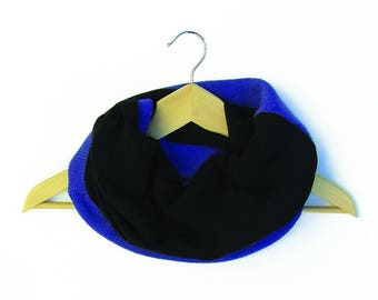blue black woman wool scarf