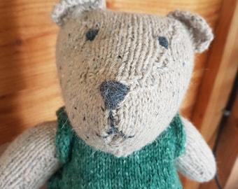 Handmade knitted bear