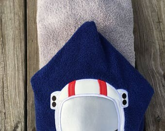 Astronaut hooded towel